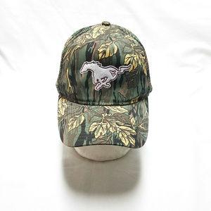Mustang Horse Camo Snapback Cap Hat